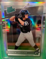 ANDREW VAUGHN D76 2020 Donruss Optic Rated Prospect Silver Holo Prizm WHITE SOX