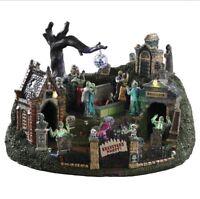 Lemax Spooky Town GRAVEYARD PARTY (NEW) NIB #94488 HTF Halloween Dance ANIMATED