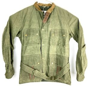 Barbour Mens NWT Fatigue Green Ursula Waxed Cotton Hooded Jacket Size Large