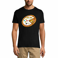 ULTRABASIC Homme T-shirt Pizza Gamer - Humour Fun Drôle - Cadeau pour Gamers