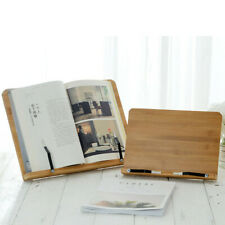 Adjustment Bamboo Reading Rest Tablet Cook Home Study Book Holder Foldable Stand