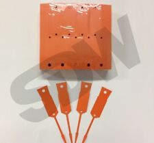 Versa Tags Arrow ID Self Locking Service Key Tags (1000 pack) Orange Key Tags