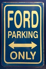 Ford Parking Only Metal Sign /  Vintage Garage Wall Decor 16x12 Cm