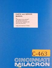 Cincinnati Milacron 28 Series, EM Milling Machine, Parts and Service Manual 1945