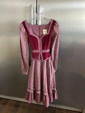 VTG Gunne Sax Dress Cottage core Prairie Dress Victorian Size 9 Pockets Velvet