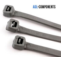 100 SILVER GREY CABLE TIES 370MM x 4.8MM  (FREE PACK OF 100, 2.5 X 100 BLACK)