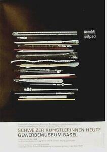 Original vintage poster SWISS FEMALE ARTISTS EXPO 1984 Hofmann