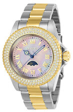 Invicta Women's Watch Sea Base Crystal Pink MOP Dial Two Tone Bracelet 23832