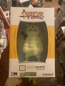 Kidrobot  Adventure Time Puff Jake N Lil Finn Lootcrate Exclusive Glows In Dark!