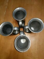 Set of 4 Armetale/Pewtarex French Horn Mugs