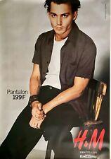 "H&M  JOHNNY DEPP Bus Shelter Original Fashion Advertising Poster 69"" X 47 ROLLED"