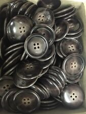 "144  Real Horn Buttons 1-1/4"" Brown"
