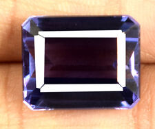 Emerald Cut Color Changing Sapphire Gems 17.10 Ct 100% Natural Certified E6138