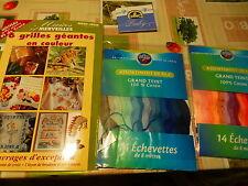 lot catalogue hors série N°6  grilles géantespoint de crox +28échevettes neuves