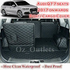 Waterproof Tailor Made Boot Liner Cargo Mats Cover Audi Q7 7 Seats 2017 Onwards