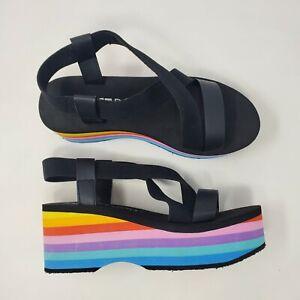 Rocket Dog Women's Rainbow Platform Wedge Sandals Sz 10