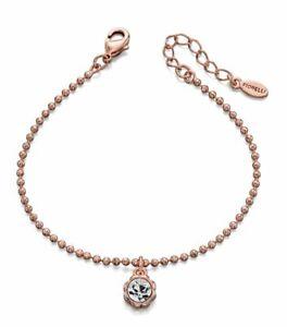 Fiorelli Rose gold plated bracelet Swarovski crystal, Gift Bag jewellery for her