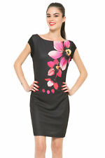 Desigual Fitted Low Back Floral Black Blue Anael Dress S-XXL UK 10-18 RRP�74