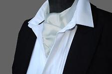 SATIN Neck Tie Cravat Ascot - ALL COLOURS
