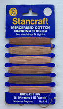 VINTAGE STANCRAFT COTTON THREAD FOR MENDING TIGHTS/STOCKINGS -VARIOUS SHADES