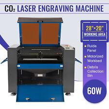 60w 28x20in Co2 Laser Engraver Cutter Laser Engraving Cutting Machine Ruida