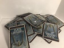New ListingLot of 10 Vintage Plate Holder Solid Brass Fits All Sizes