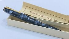 More details for gorgeous onoto the pen, no 14, in box, blue marble, semi flex 14k medium nib
