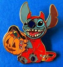 Disney Pin Stitch in Trick or Treat Halloween Devil Costume with Pumpkin & Candy