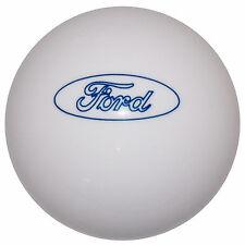 Ford Blue Oval White Shift Knob 5/16-18 thread U.S. Made