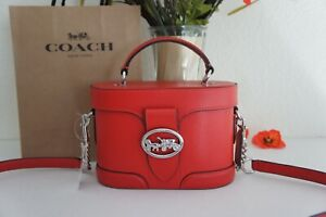 NWT Coach 5503 Georgie Gem Crossbody Vanity Case  Leather  Bright Poppy $350