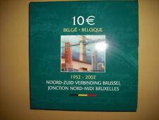 """BELGIQUE 10 € Euro 2002 """"50 Ans Jonction Nord-Midi"""" QP PROOF *Argent*"""
