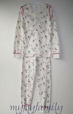 HANNA ANDERSSON Organic Long Johns Henley Pajamas Snow Sketches 120 6-7 NWT