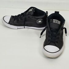 Converse All Star Chuck Taylor Leather High Tops Kids  Black Size 4
