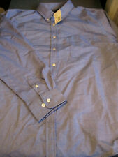 NEW! Lands End WOMENS L/S BUTTON DOWN BLOUSE SHIRT FRENCH BLUE SIZE 16