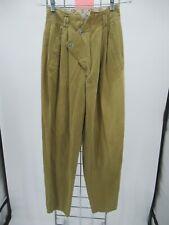 K9314 VTG Que Pasa Women's 80's 90's High Waisted Khaki Pants Size 5