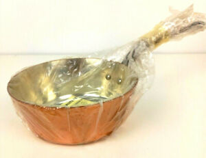 Traditional French Copper 2mm Splayed Saute Pan 18cm Saucepan Pot Hammered - NEW