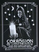 Corrosion of Conformity Concert Poster Glow In The Dark B/W Justin Hampton S/...
