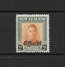 1938 King George VI SGO158 2s. Orange & Green OFFICIAL Mint Hinged NEW ZEALAND