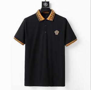 Summer Men's Versace T-shirt Short sleeve Black White