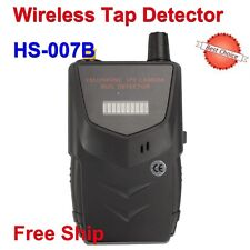 HS-007B RF Signal Bug Wireless Camera Tap Spy Detector WiFi Audio Cell Phone