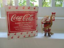 Coca Cola Christmas Ornament 2000 Of 1955 Sundblom Santa Season's Greeting w/COA