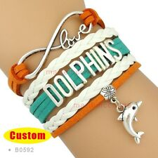 Miami Dolphins Bracelet Infinity NFL Football Sports QUALITY USA