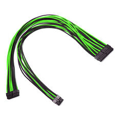 24pin Green Black Sleeved Power Supply Cable EVGA E-Series G3 / G2 / P2 / T2
