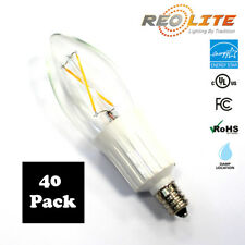 Candelabra LED Light Bulb B10 2W - 25W Replacement E12 Base Chandelier 40 Pack