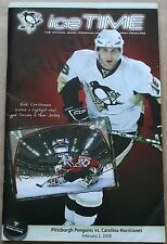 2008 Pittsburgh Penguins Carolina Hurricane Ice Time Program Erik Christensen