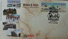 Melaka & Jogja City Of Museums Malaysia 2014 Tourist Place Building (stamp FDC)