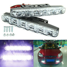 2x Xenon White 6 LED Super Bright DRL Running Driving Lights Fog Lamps Typical