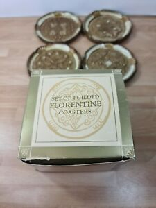Past Times Set Of 4 Gilded Florentine Coasters