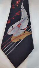 STUARDS 100% Silk Men's Neck Tie NWOT Feather Black