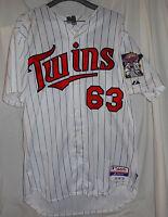 2012 Minnesota Twins JOE BENSON Game Used Worn Signed Jersey PHOTOMATCHED